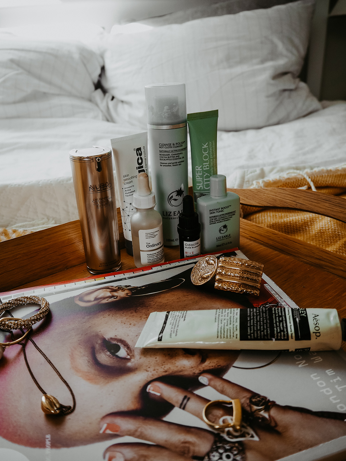 stripped back skincare routine