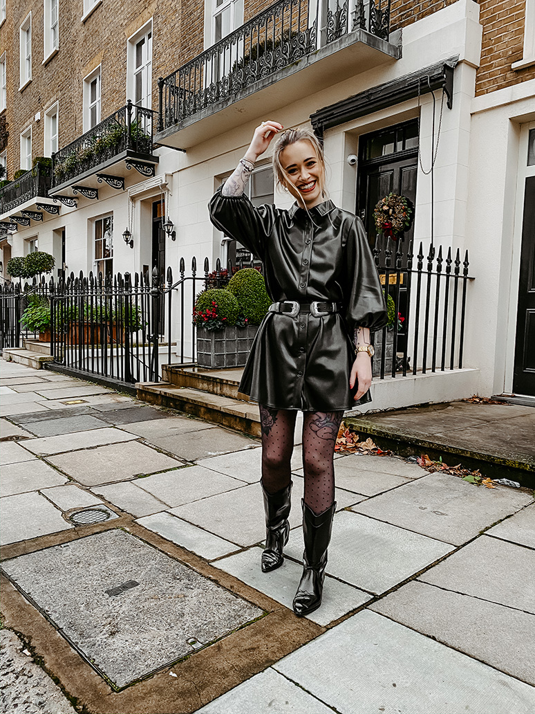 how to style the leather dress